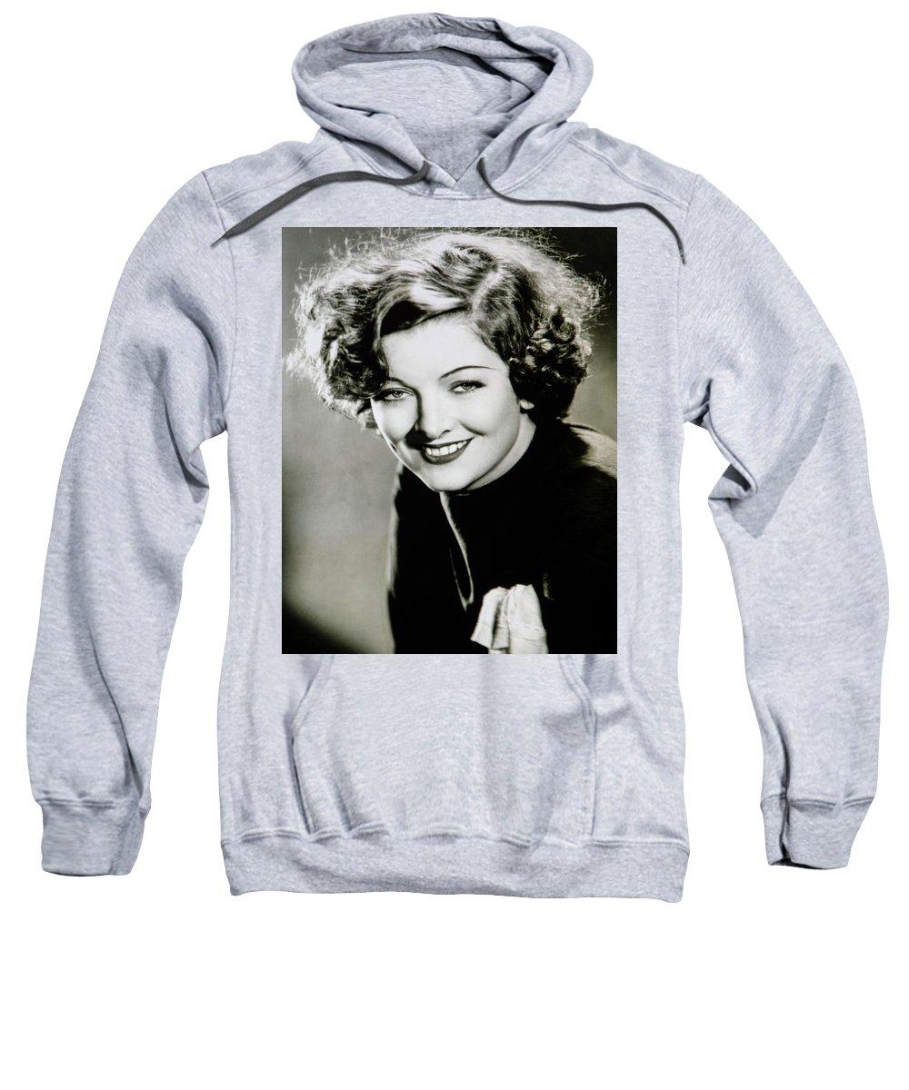 Media Room Sweatshirt featuring the photograph Myrna Loy by Thomas Whitehurst