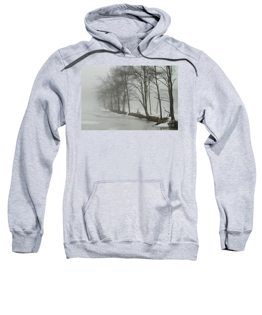 Winter Sweatshirt featuring the photograph Mysterious Winter by Karol Livote
