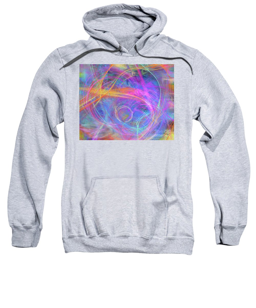 Mystic Beginning Sweatshirt featuring the digital art Mystic Beginning by John Beck