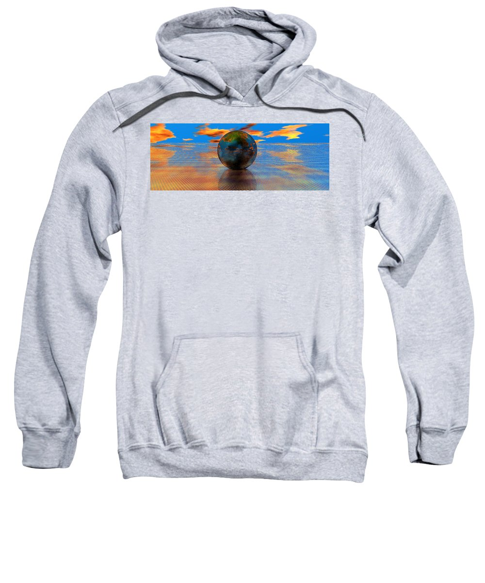 Mystical Sweatshirt featuring the digital art Mystical Blue by Oscar Basurto Carbonell