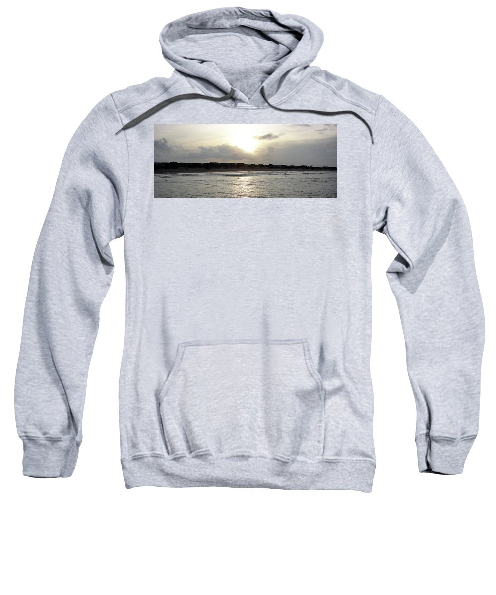 Nags Head Sweatshirt featuring the photograph Nags Head Nc Surf by Brett Winn