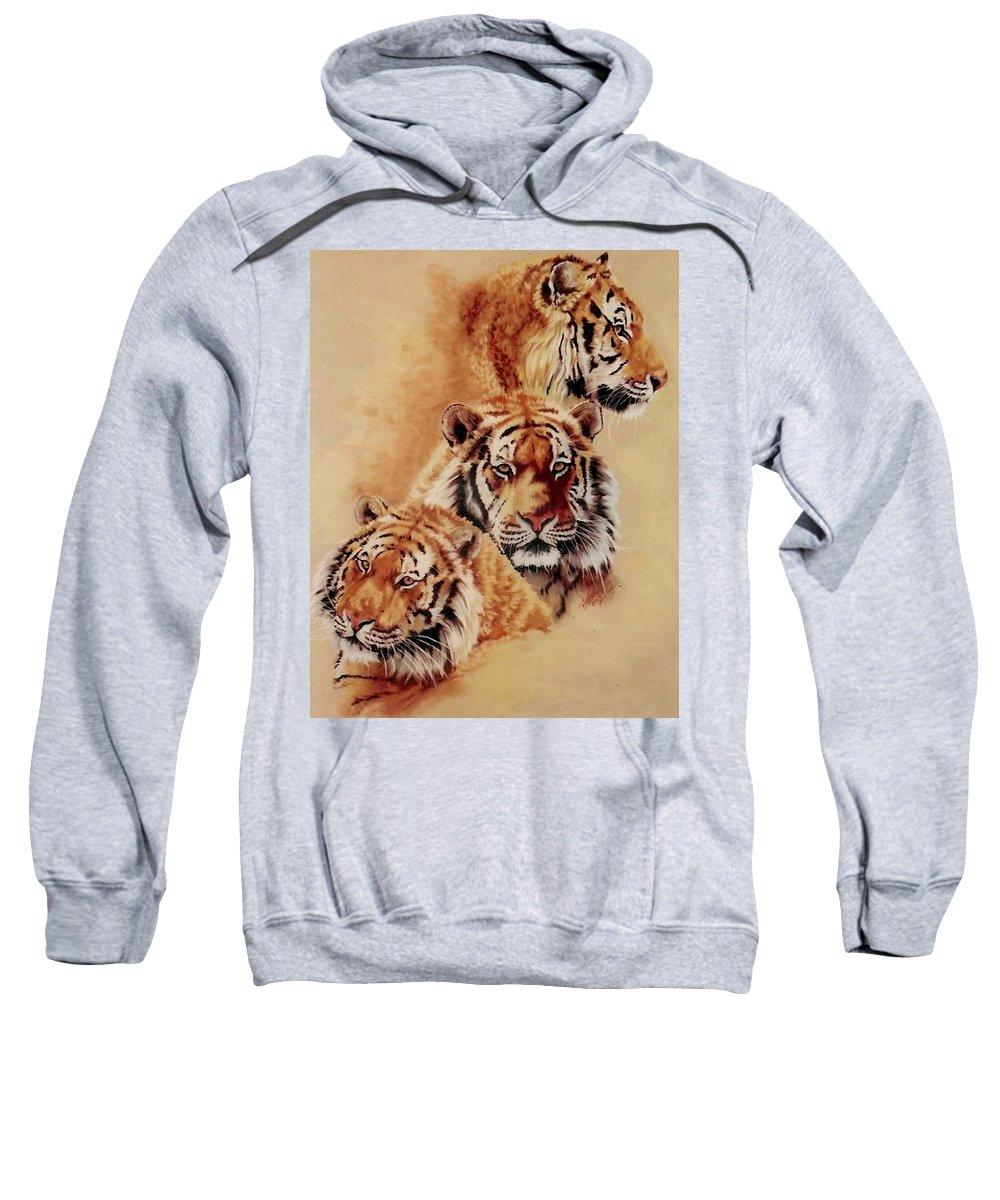 Tiger Sweatshirt featuring the pastel Nanook by Barbara Keith