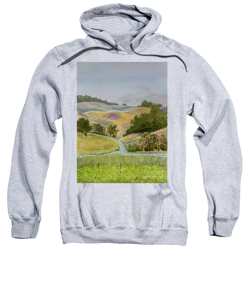 Napa Sweatshirt featuring the painting Napa-sonoma by Jackie MacNair