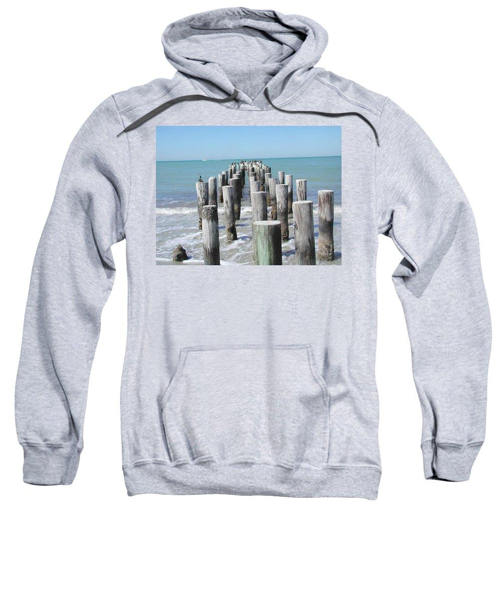 Ocean Sweatshirt featuring the photograph Naples Pier by Tom Reynen