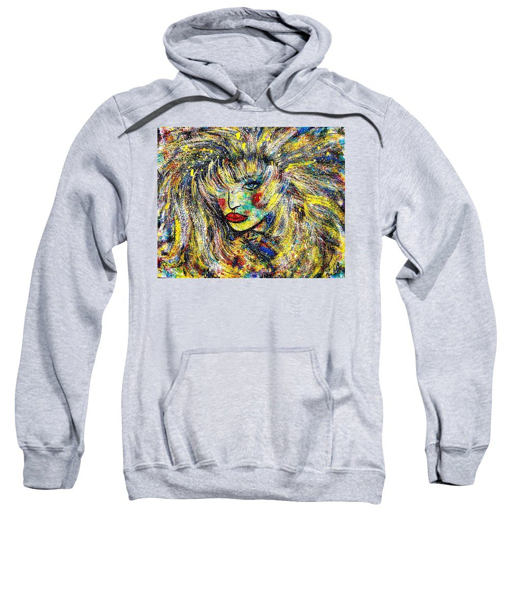 Portrait Sweatshirt featuring the painting Natalya by Natalie Holland