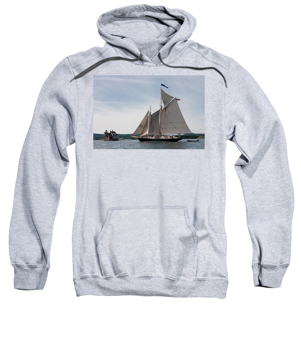 Sailboat Sweatshirt featuring the photograph Nathaniel Bowditch 4 by Brent L Ander
