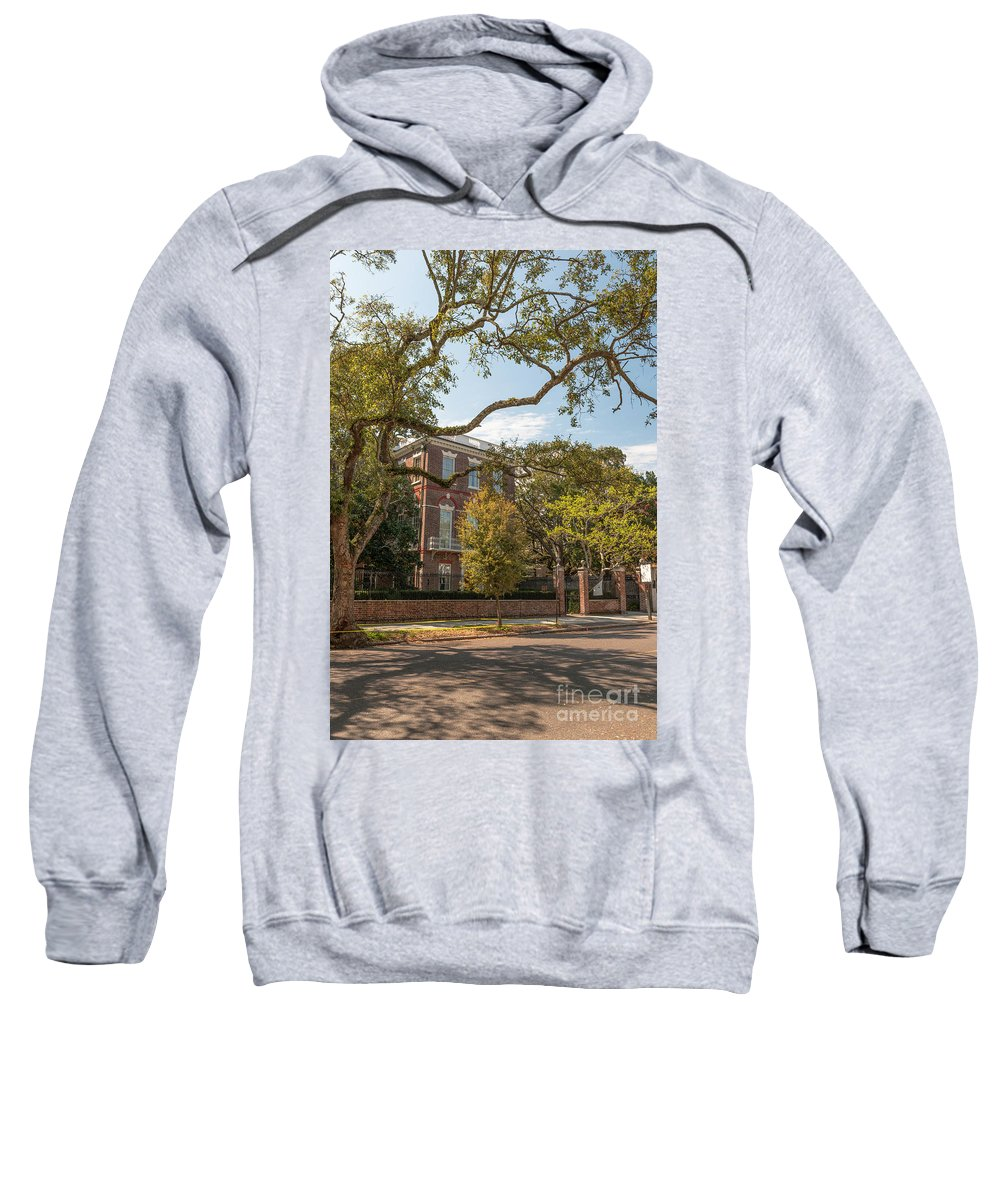 Nathaniel Russell House Sweatshirt featuring the photograph Nathaniel Russell House by Dale Powell