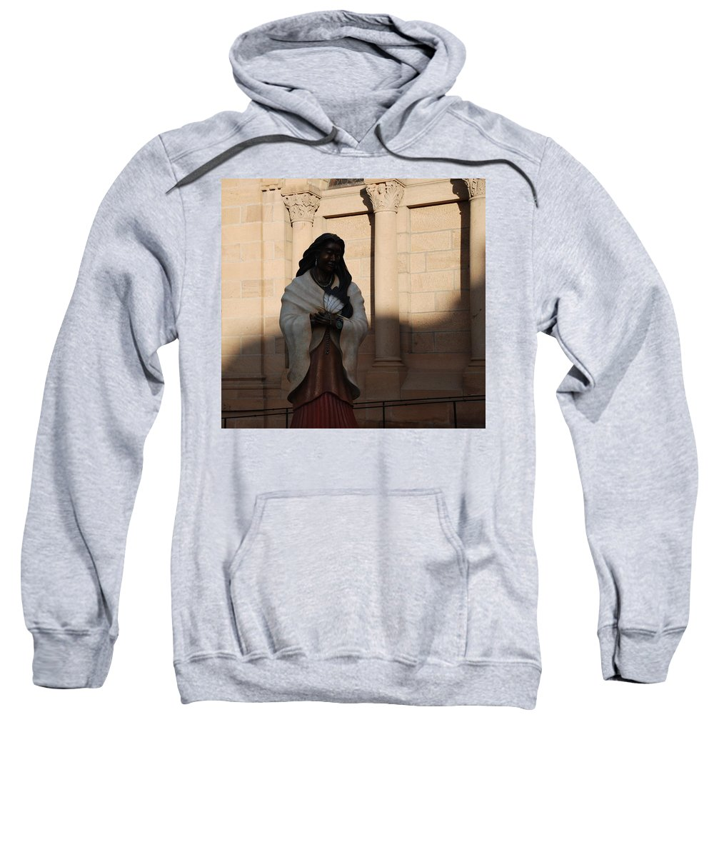 Sculpture Sweatshirt featuring the photograph Native American Saint by Rob Hans