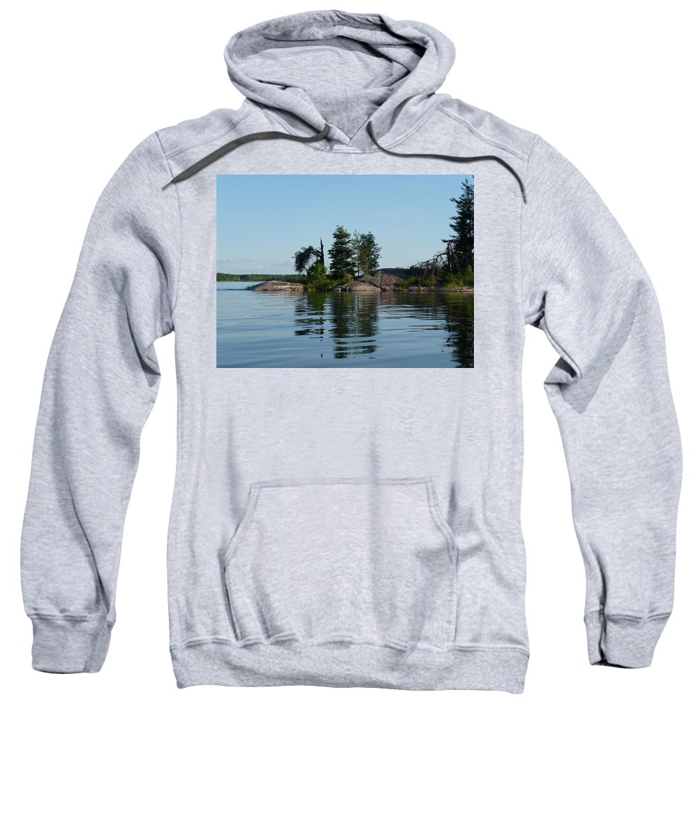 Lake Sweatshirt featuring the photograph Natural Breakwater by Ruth Kamenev