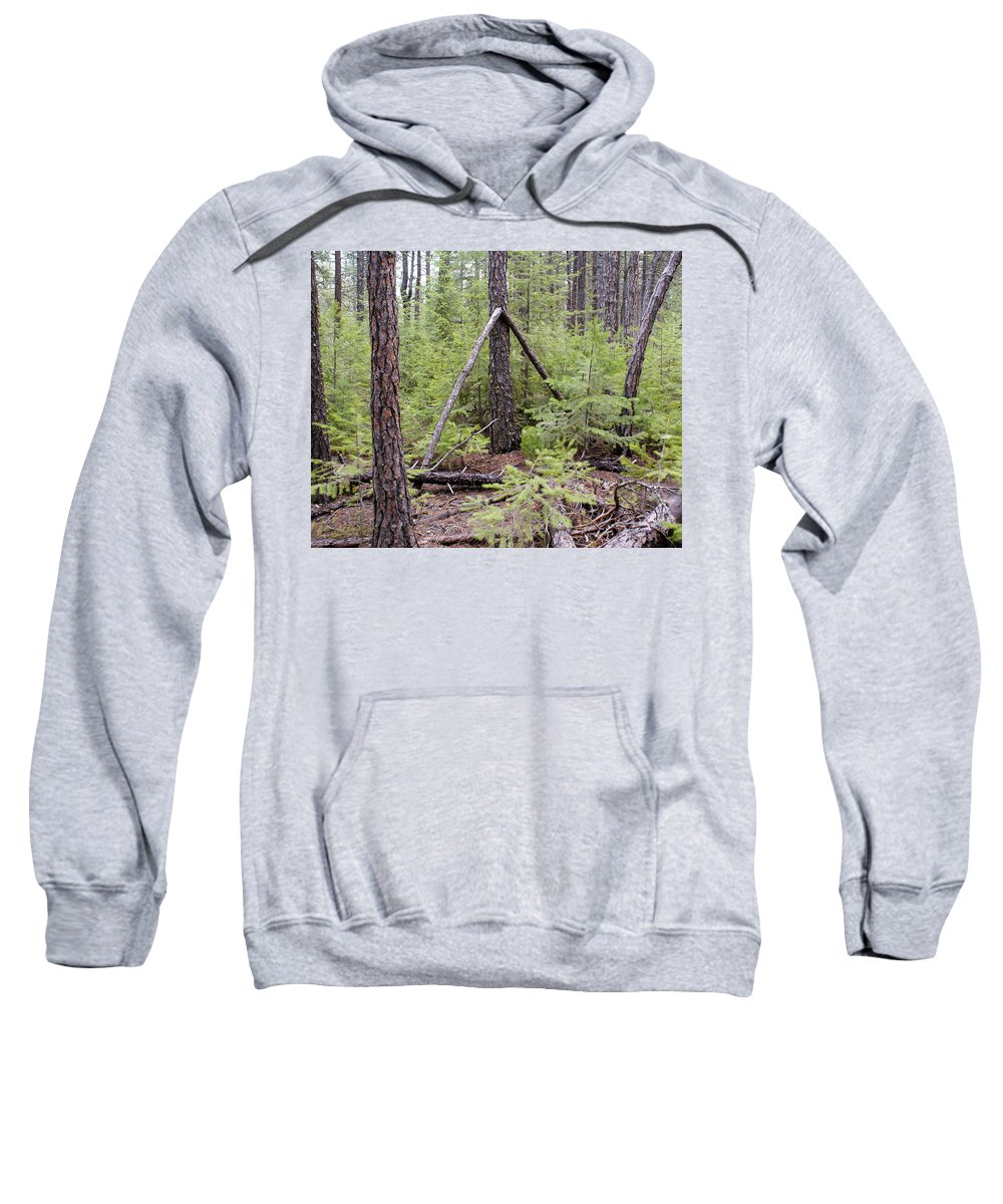 Nature Sweatshirt featuring the photograph Natural Peace In The Woods by Ben Upham III