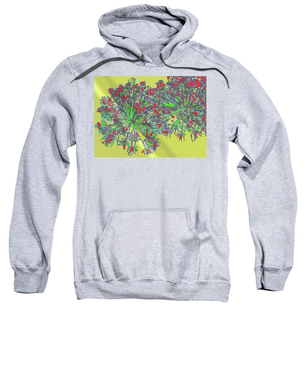 Abstract Sweatshirt featuring the digital art Natural Spiral by Ian MacDonald