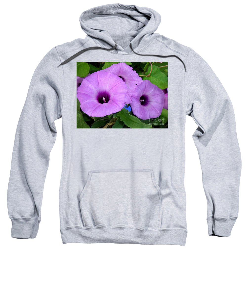 Nature Sweatshirt featuring the photograph Nature In The Wild - Morning Bells by Lucyna A M Green