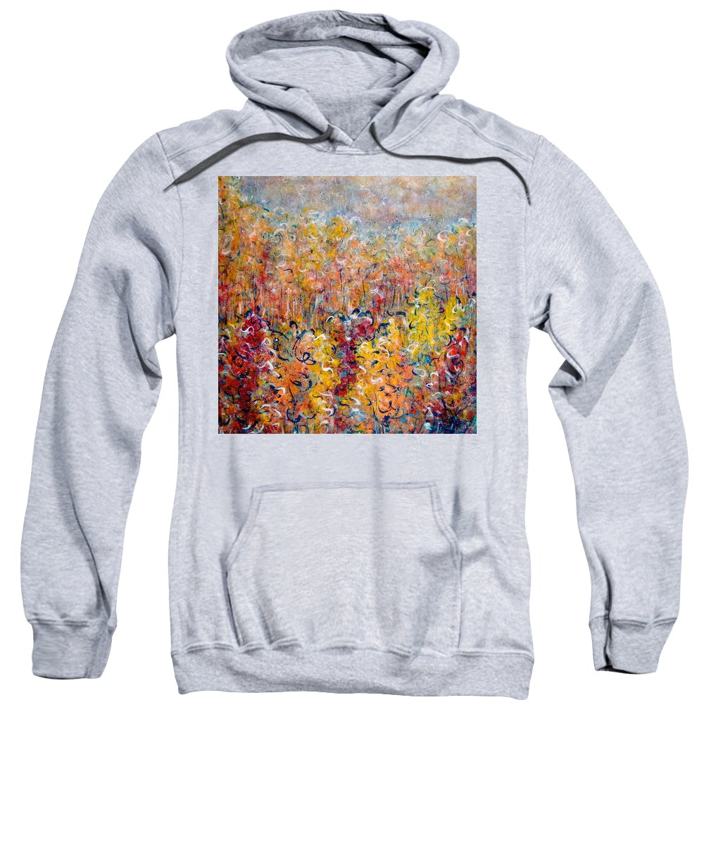Autumn Sweatshirt featuring the painting Nature by Natalie Holland