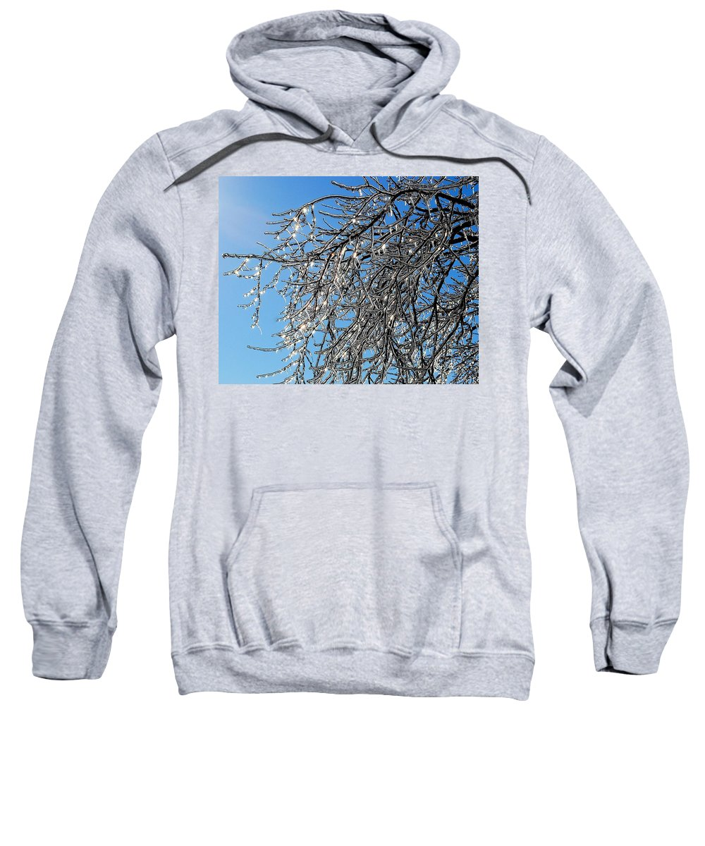 Crystal Sweatshirt featuring the photograph Natures Crystal by Frozen in Time Fine Art Photography