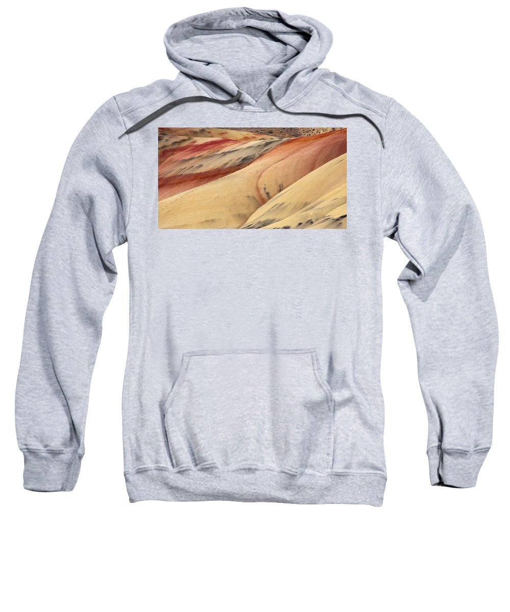 Painted Hills Sweatshirt featuring the photograph Nature's Palette by Mike Dawson