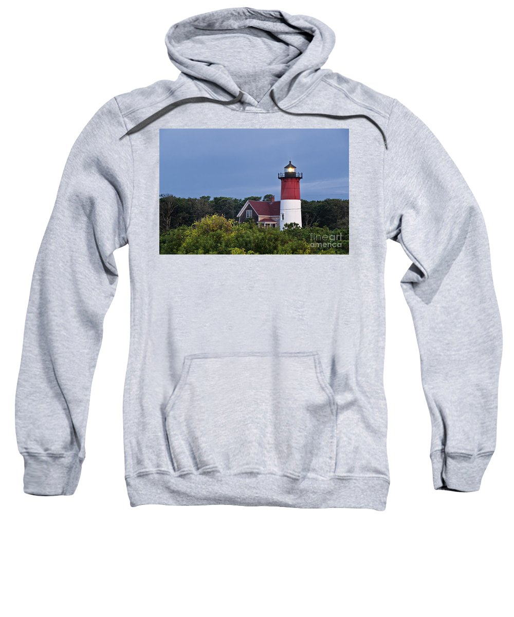 Cape Cod Sweatshirt featuring the photograph Nauset Lighthouse by John Greim