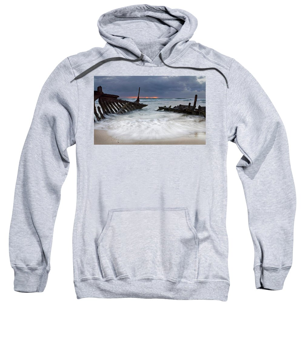 Keel Sweatshirt featuring the photograph Nautical Skeleton by Mike Dawson