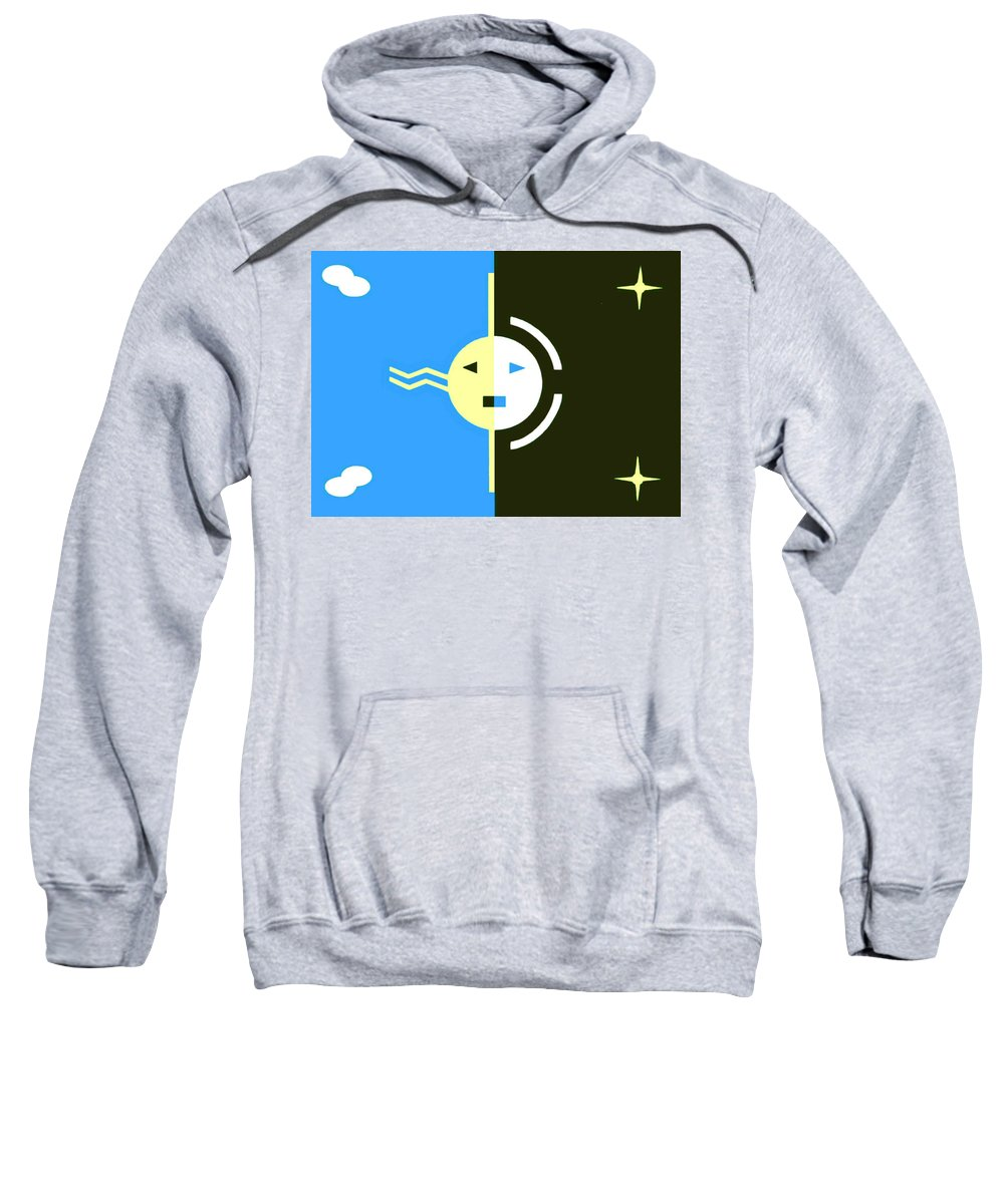 Eclipse Sweatshirt featuring the painting Navajo Eclipse by Thomas Meyers