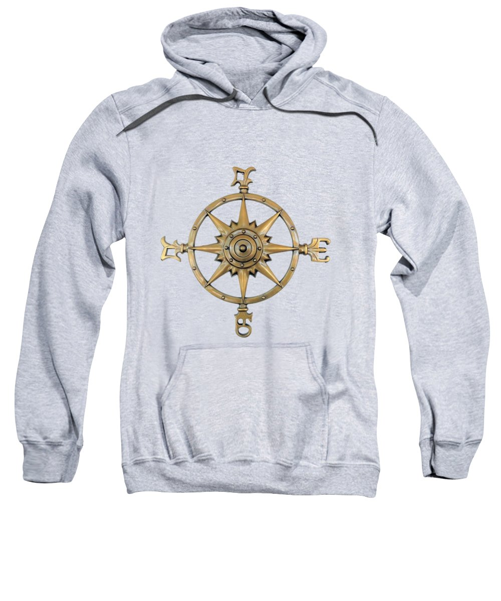 Steampunk Illustration Sweatshirt featuring the mixed media Navigators by Valerie Anne Kelly