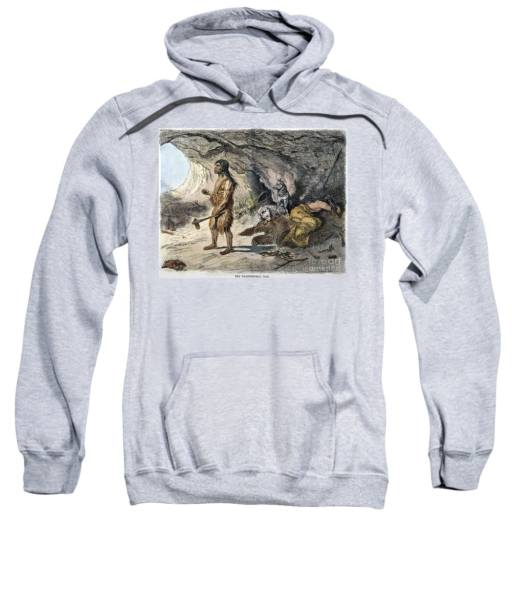 1873 Sweatshirt featuring the photograph Neanderthal Man by Granger