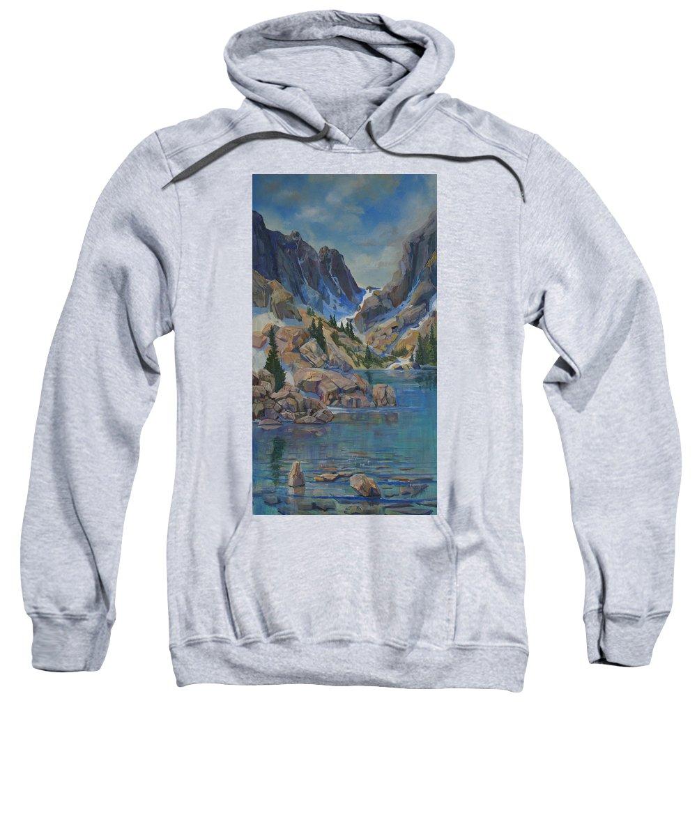 Hayden Spires Sweatshirt featuring the painting Near Hayden Spires by Heather Coen