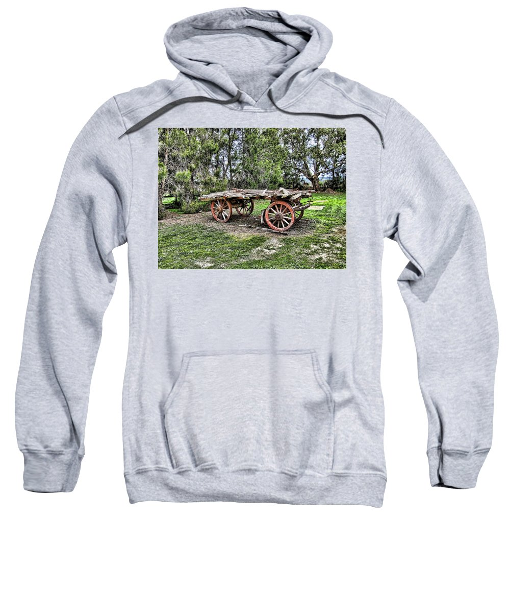 Wagon Sweatshirt featuring the photograph Need Horsepower by Douglas Barnard