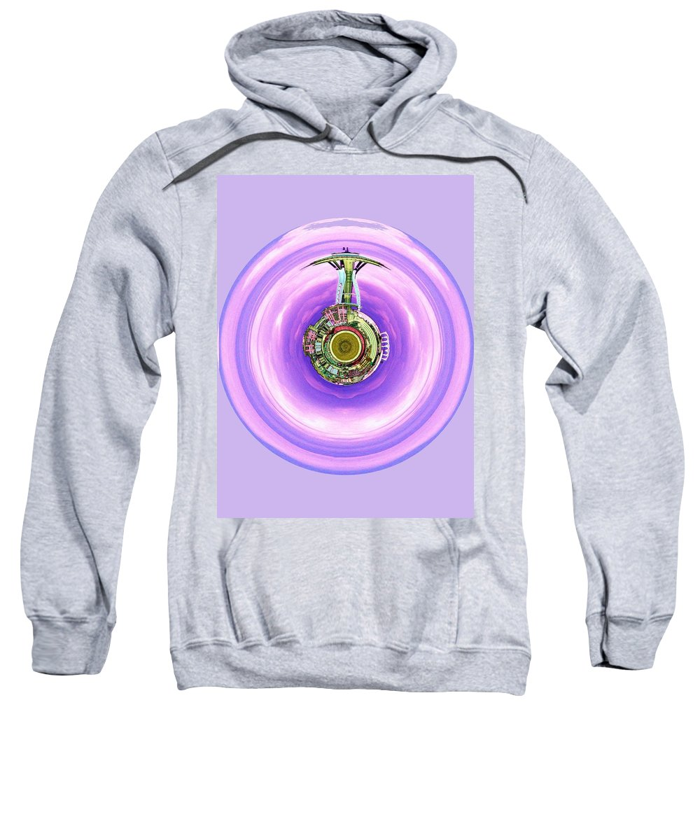 Seattle Sweatshirt featuring the photograph Needle In A Bubble by Tim Allen