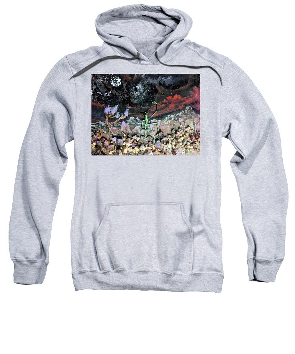 Alien Art Sweatshirt featuring the digital art Haystack Needle by Justin Hiatt