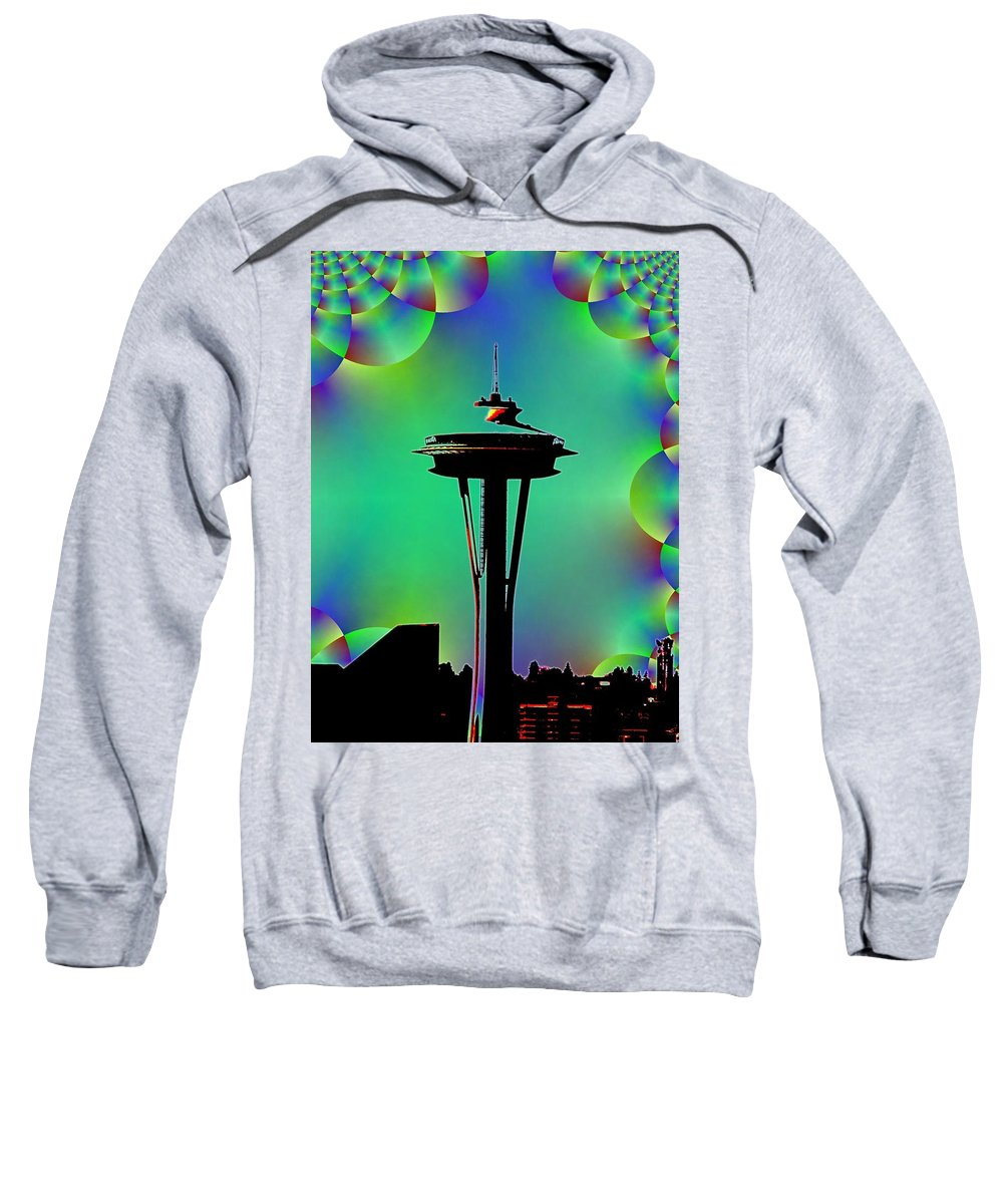 Seattle Sweatshirt featuring the digital art Needle In Fractal 3 by Tim Allen