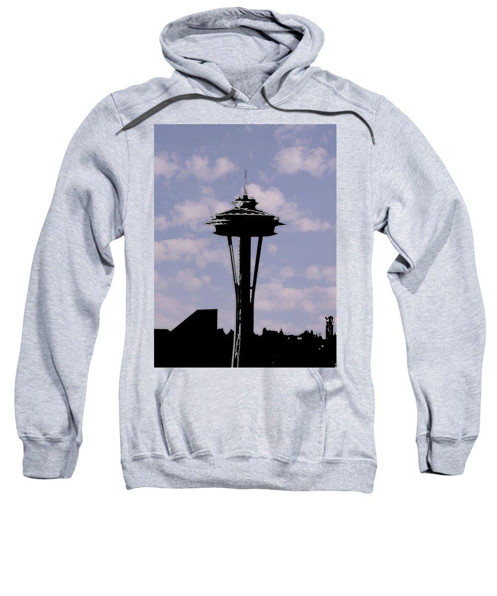 Seattle Sweatshirt featuring the digital art Needle In The Clouds by Tim Allen