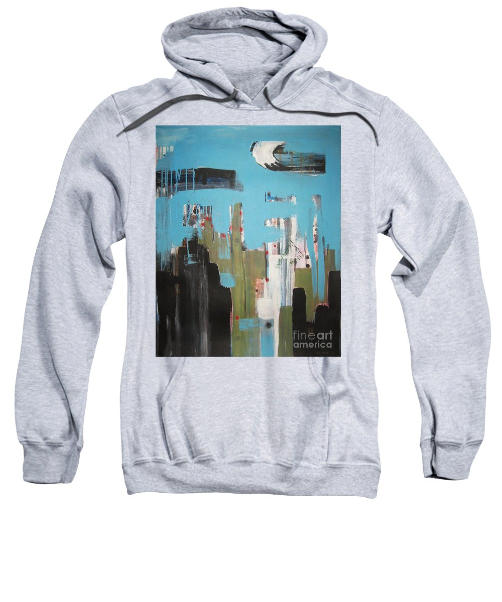 Abstract Paintings Sweatshirt featuring the painting Neglected Area by Seon-Jeong Kim
