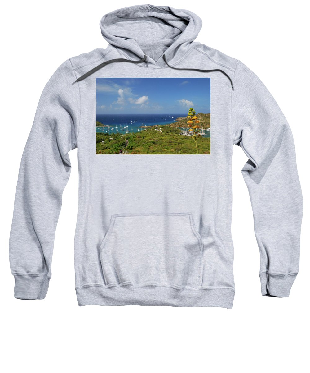 Caribbean Islands Sweatshirt featuring the photograph Nelson's Dockyard Antigua by Gary Wonning