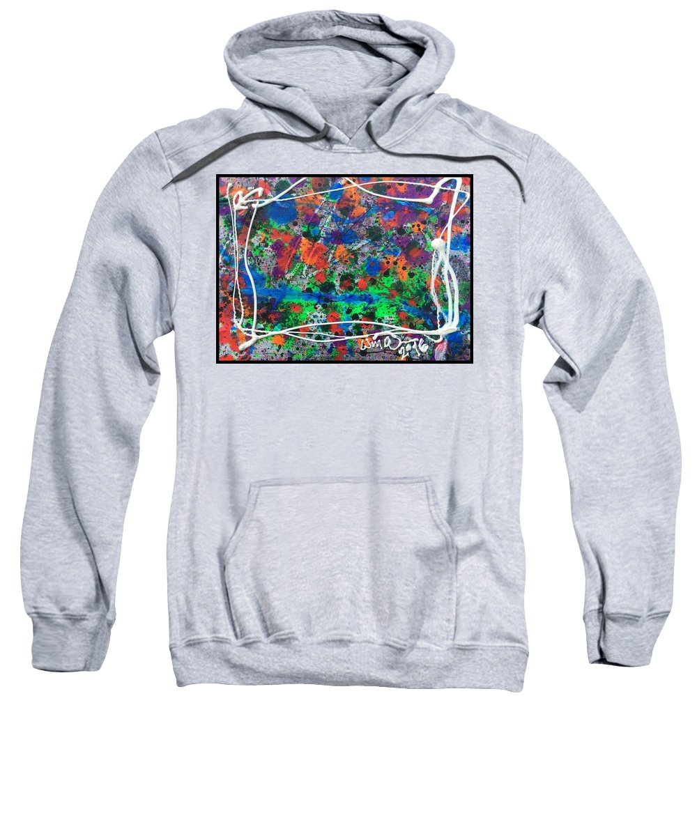 Neon Asemic Abstract Sweatshirt featuring the photograph Neon Gumbo by W A Turman
