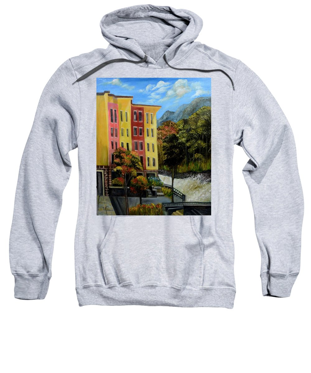 Homeland Sweatshirt featuring the painting Nest by Sudha Srivastava