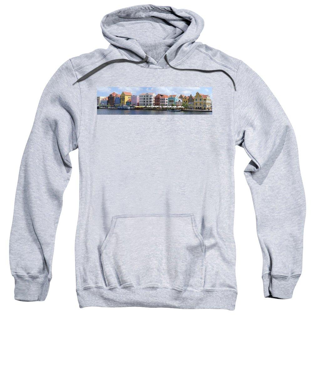 Main Street Sweatshirt featuring the photograph Netherlands Antilles by Heather Coen