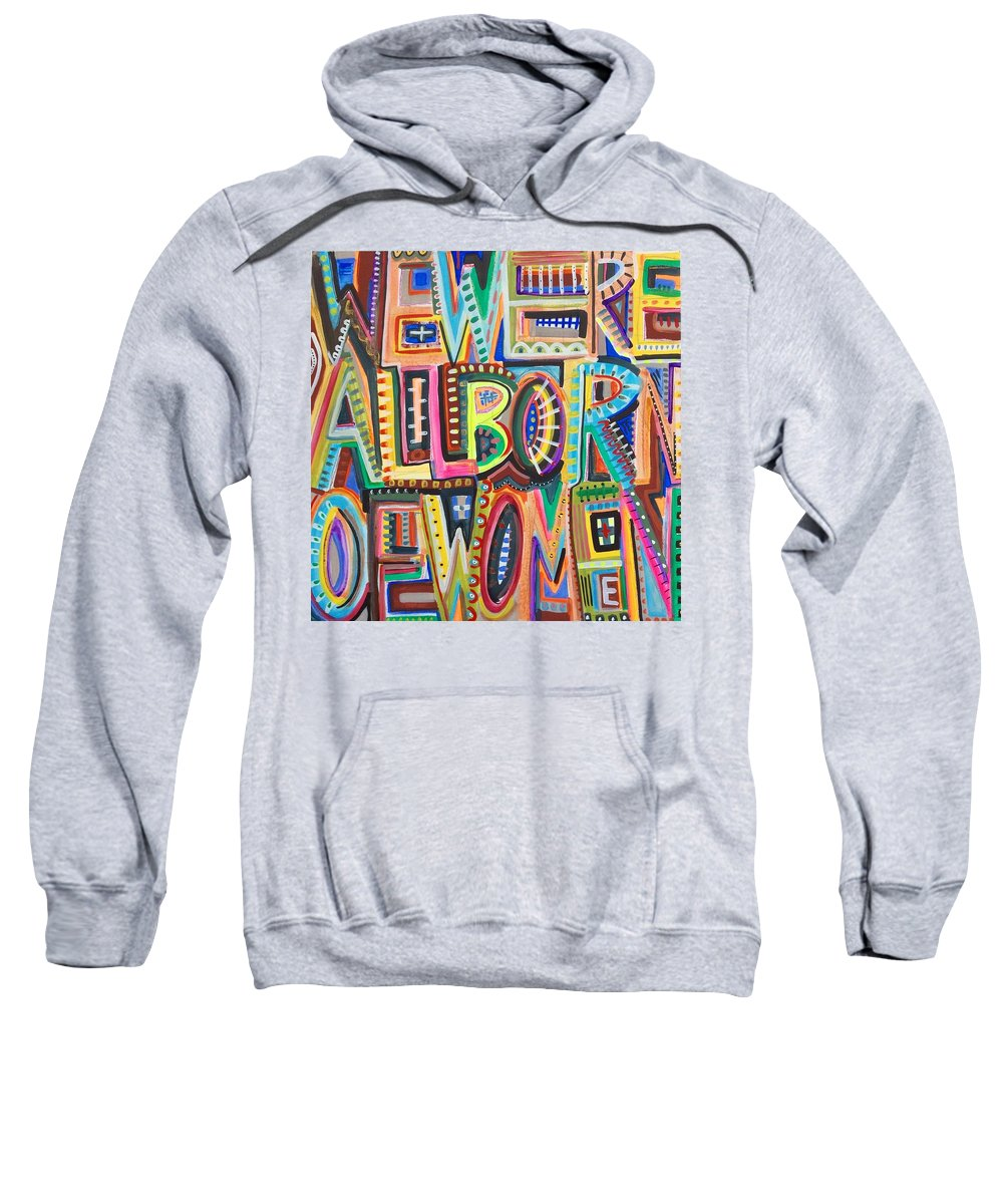 Women Sweatshirt featuring the painting Nevertheless She Persisted by Laura Dunn