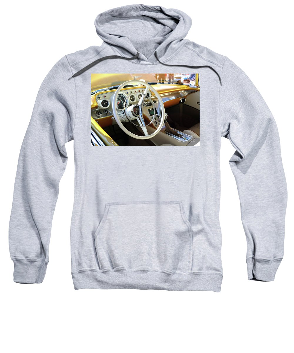 Goodguysscottsdale11-18-2017 Sweatshirt featuring the photograph New Classic by Ryan Grimes