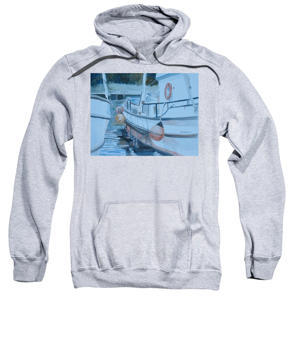 Marine Sweatshirt featuring the painting New Dawn In The Late Afternoon by Jenny Armitage