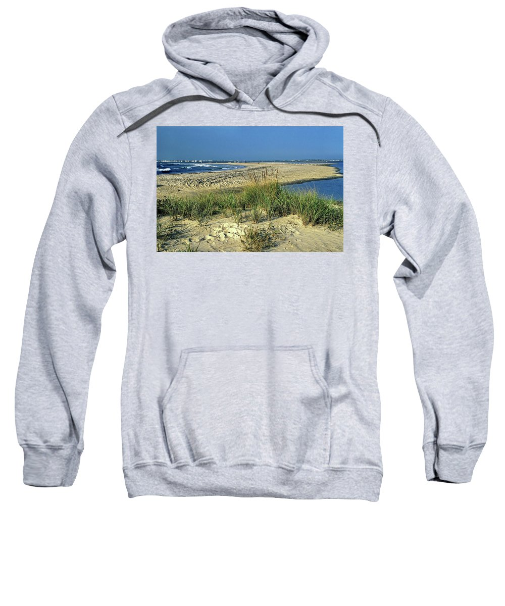 Inlet Sweatshirt featuring the photograph New Jersey Inlet by Sally Weigand