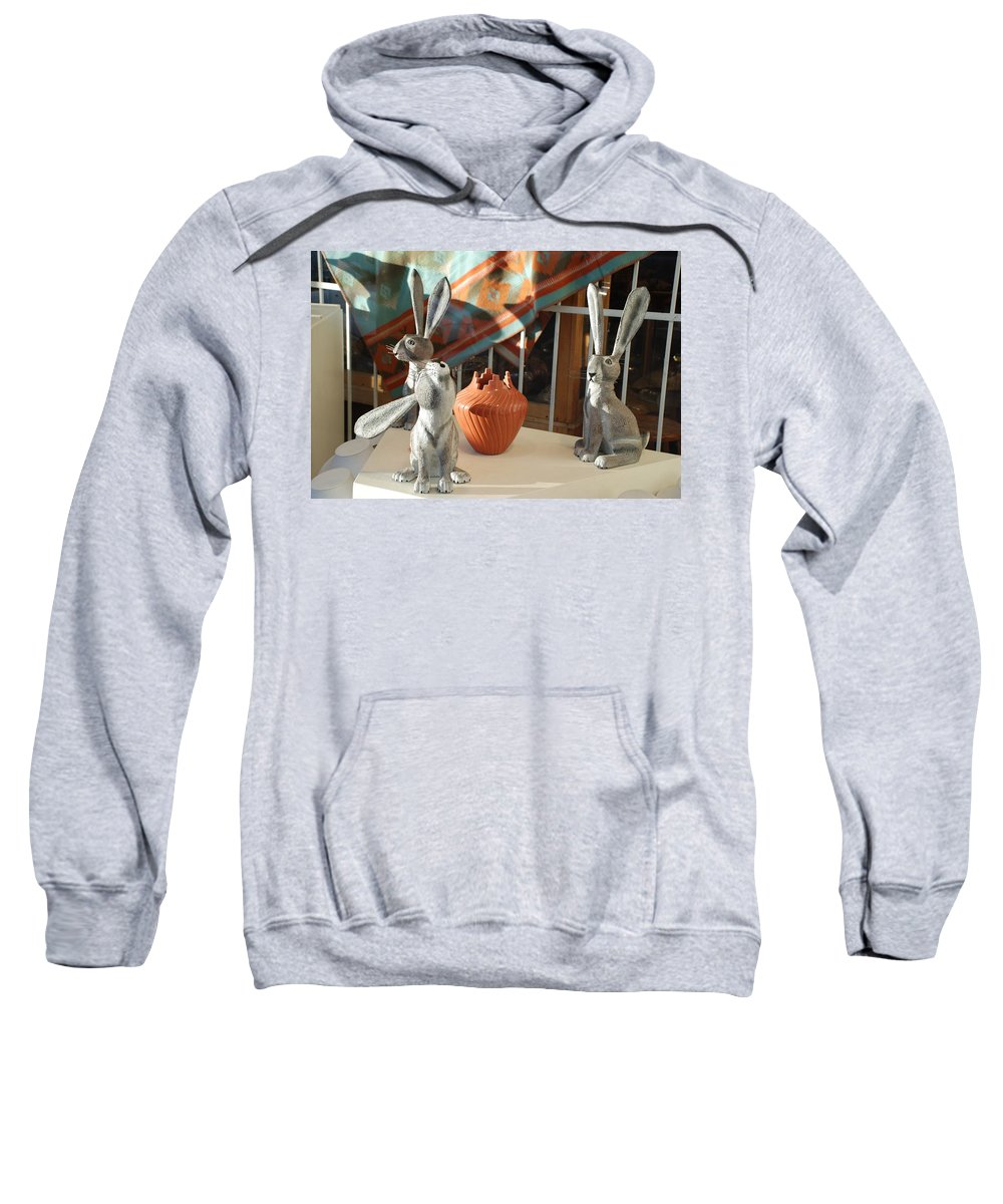 Rabbits Sweatshirt featuring the photograph New Mexico Rabbits by Rob Hans