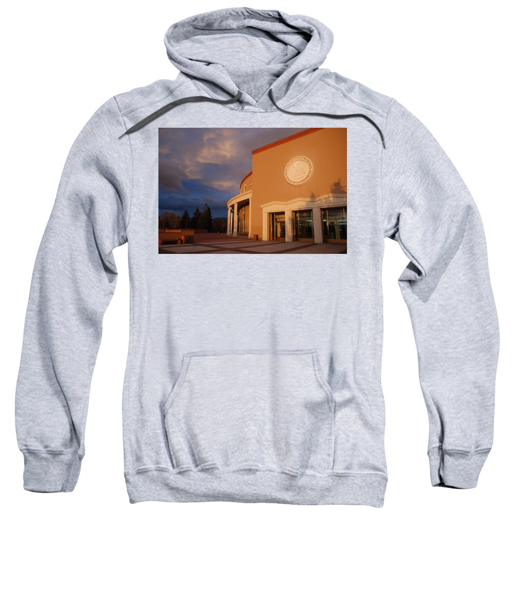 Architecture Sweatshirt featuring the photograph New Mexico State Capital Building by Rob Hans