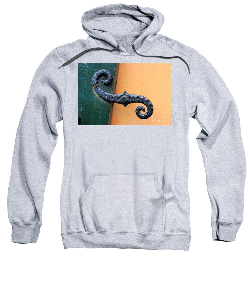 Windows Sweatshirt featuring the photograph New Orleans Hardware by Carol Groenen