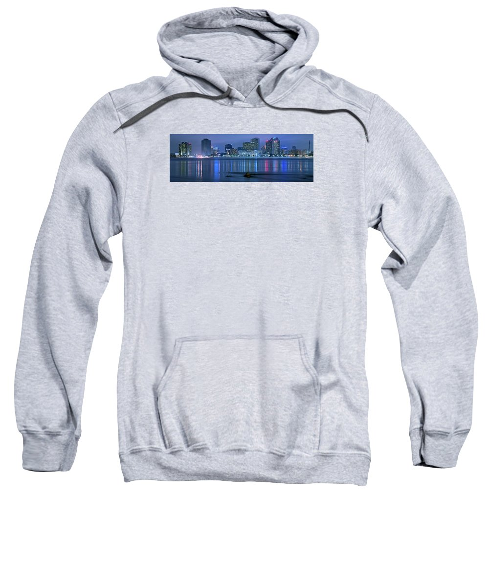 New Sweatshirt featuring the photograph New Orleans Panorama by Frozen in Time Fine Art Photography