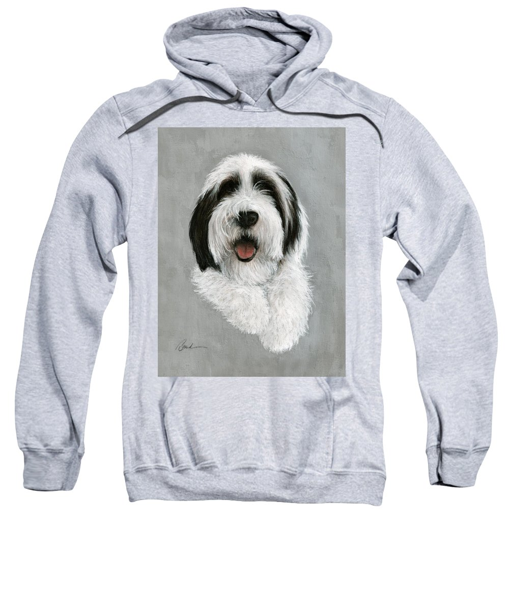 Dog Art Bruce Lennon Art Sweatshirt featuring the painting New Pup by Bruce Lennon