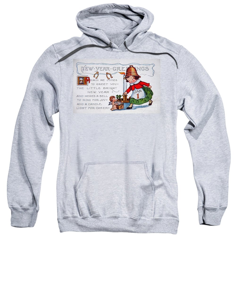 Baby New Year With Wings Sweatshirt featuring the photograph New Year Postcard by Kevin Bohner