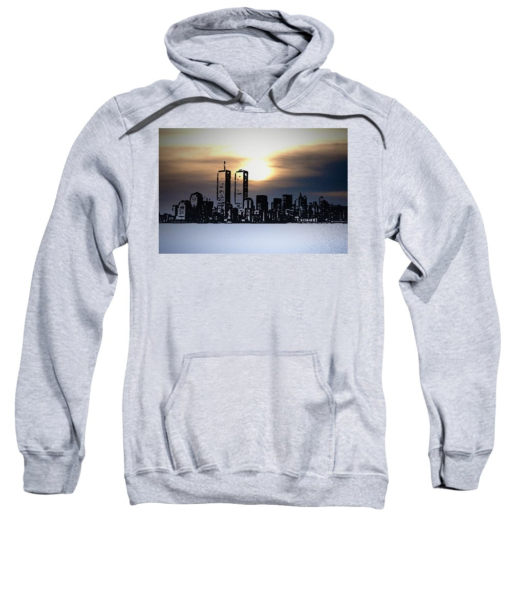 New York Sweatshirt featuring the photograph New York City - The Way We Were by Bill Cannon