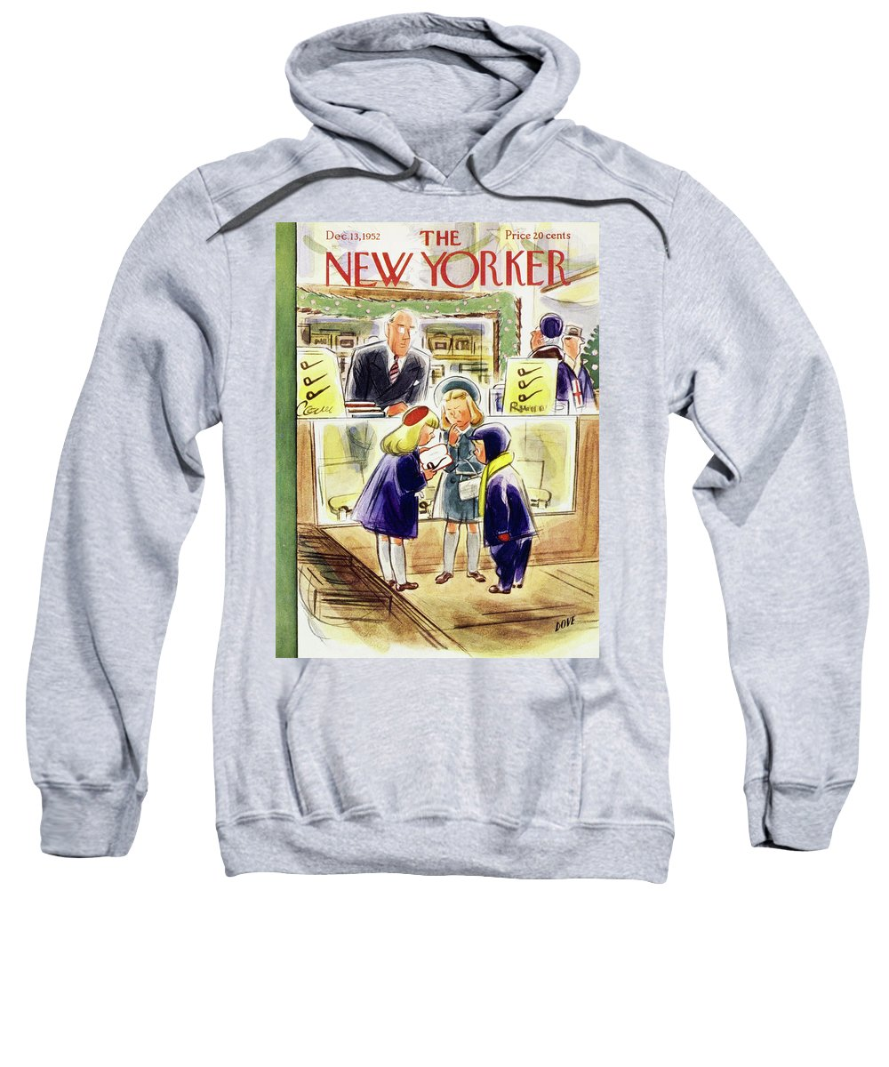 Children Sweatshirt featuring the painting New Yorker December 13 1952 by Leonard Dove