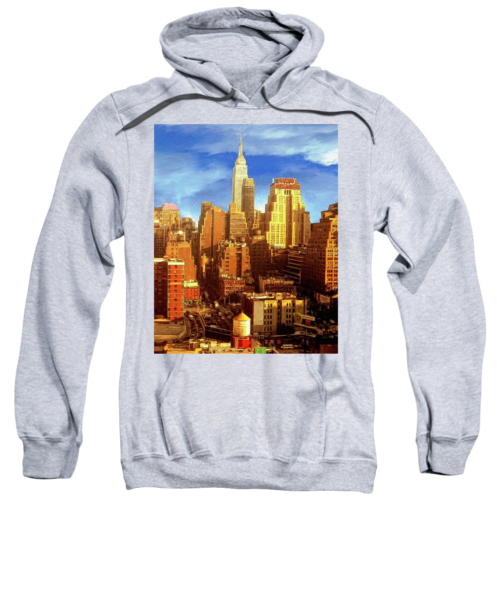 New York Sweatshirt featuring the painting New Yorker by Dominic Piperata