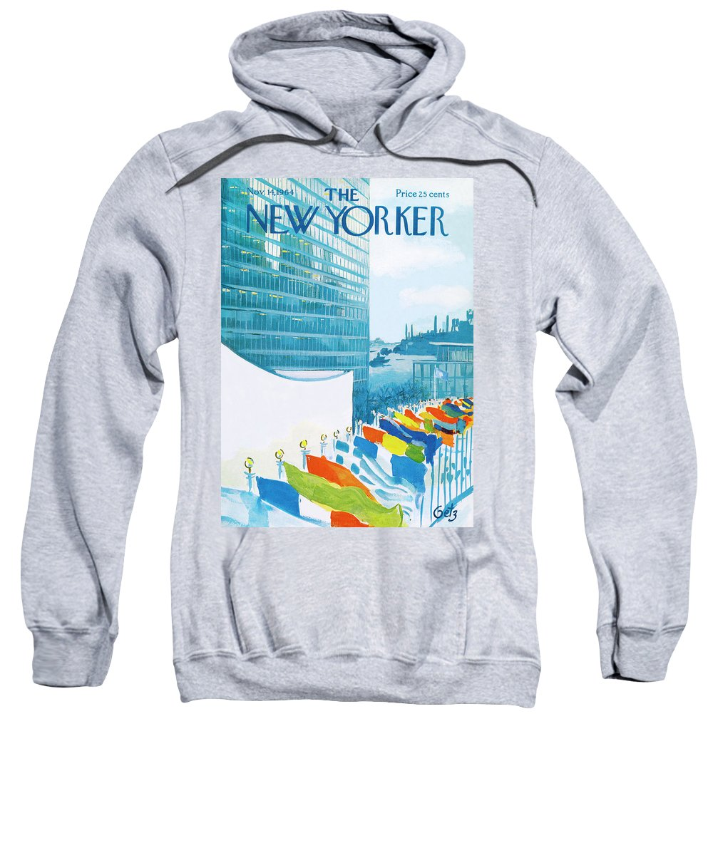 Urban Sweatshirt featuring the painting New Yorker November 14th, 1964 by Arthur Getz