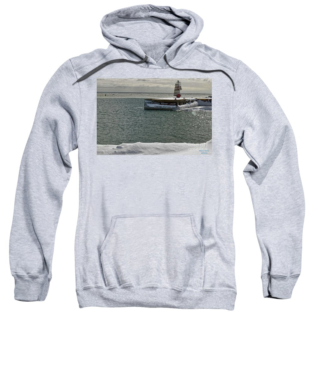 Sweatshirt featuring the photograph Newport3 by Marc Thibault